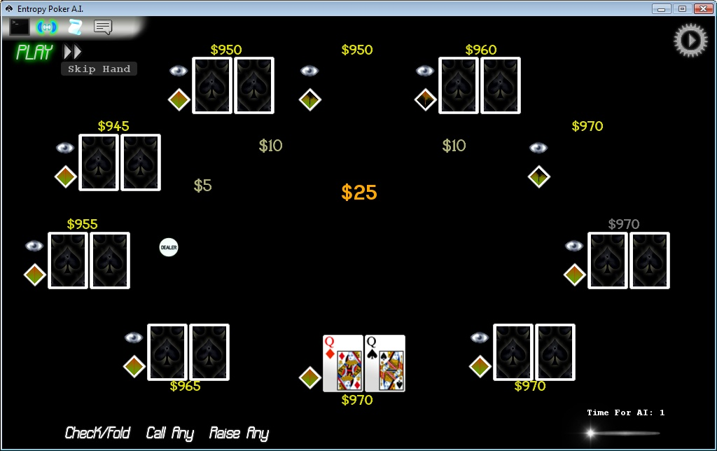 Click to view Entropy Poker A.I. screenshots